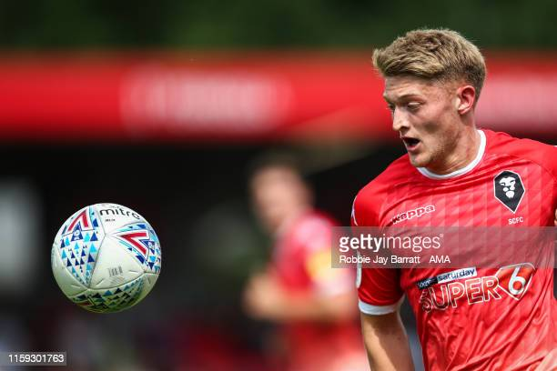 Luke Armstrong of Salford City during the Sky Bet League Two match between Salford City and Stevenage at Moor Lane on August 3 2019 in Salford England