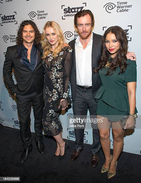 Luke Arnold Hannah New Toby Stephens and Jessica Parker Kennedy attend STARZ Network Series 'Da Vinci's Demons' and 'Black Sails' Sleep No More...