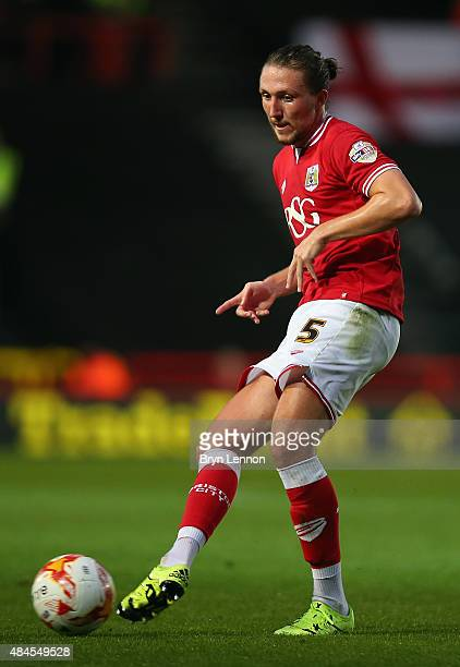 Luke Ayling of Bristol City in action during the Sky Bet Championship match between Bristol City and Leeds United at Ashton Gate on August 19 2015 in...