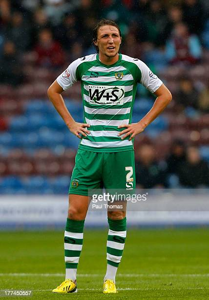 Luke Ayling of Yeovil watches on during the Sky Bet Championship match between Burnley and Yeovil Town at Turf Moor on August 17 2013 in Burnley...