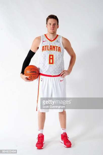 Luke Babbitt of the Atlanta Hawks poses for a portrait during the 201718 NBA Media Day on September 25 2017 at Philips Arena in Atlanta Georgia NOTE...