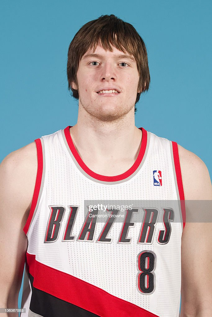 Luke Babbitt #11 of the Portland Trail Blazers poses for a portrait during Media Day on December 16, 2011 at the Rose Garden Arena in Portland, Oregon.