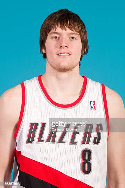 Luke Babbitt of the Portland Trail Blazers poses for a portrait during Media Day on December 16 2011 at the Rose Garden Arena in Portland Oregon NOTE...