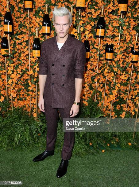 Luke Baines arrives at the 9th Annual Veuve Clicquot Polo Classic Los Angeles at Will Rogers State Historic Park on October 6, 2018 in Pacific...