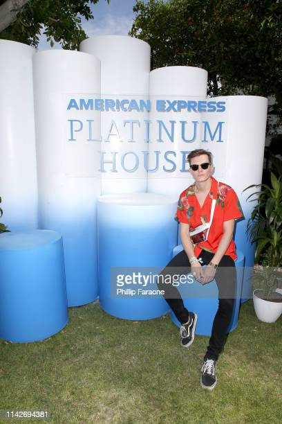 Luke Baines at the American Express Platinum House at the Avalon Hotel Palm Springs on April 14, 2019 in Palm Springs, California.