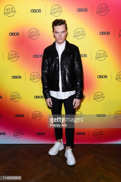 Luke Baines attends ASOS celebrates partnership with Life Is Beautiful at No Name on April 25, 2019 in Los Angeles, California.