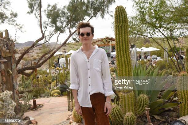 Luke Baines attends Vanessa Hudgens And Oliver Trevena Host 'Caliwater Escape' In Joshua Tree To Celebrate Their New Cactus Water Beverage At The...
