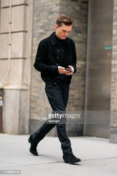 Luke Baines is seen in the East Village on April 18, 2019 in New York City.