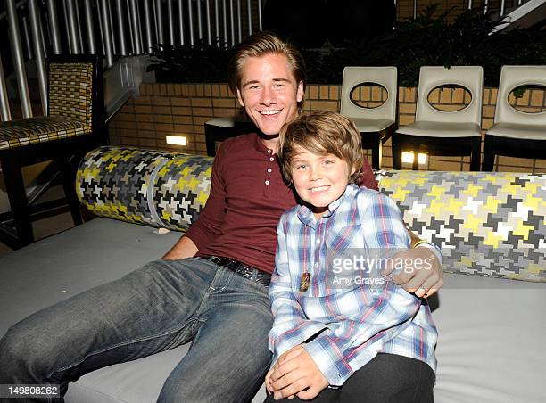 Luke Benward and Tarik Ellinger attend the Surprise Party for Caitlin Beadles and the Launch of Caitlin's Foundation Caitlin's Vine Of Bravery at...