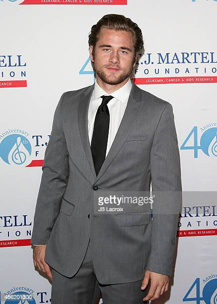 Luke Benward arrives at the TJ Martell Foundation's Spirit of Excellence Awards held at the Beverly Wilshire Four Seasons Hotel on September 1 2015...