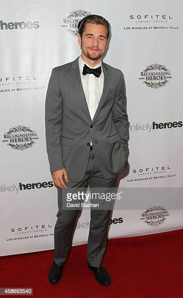 Luke Benward attends the 3rd Annual Unlikely Heroes Awards Dinner and Gala at Sofitel Hotel on November 8 2014 in Los Angeles California