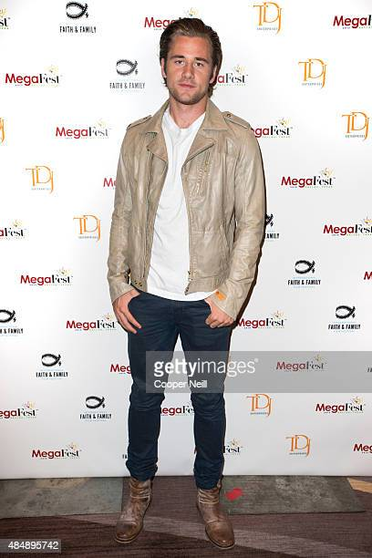 Luke Benward poses before the MegaFest Millennial Panel at the Omni Hotel Texas on August 22 2015 in Dallas Texas