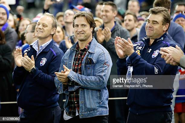 Luke Beveridge Senior Coach of the Bulldogs looks on after the VFL Grand Final match between the Casey Scorpions and the Footscray Bulldogs at Etihad...