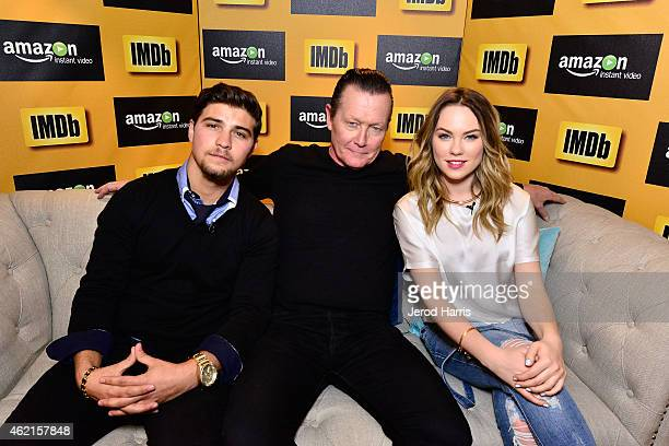 Luke Bilyk, Robert Patrick and Chloe Rose attend the IMDb & Amazon Instant Video Studio at the village at the lift on January 25, 2015 in Park City,...