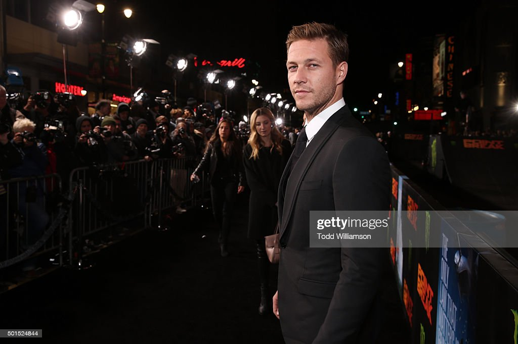 Luke Bracey attends the premiere of Warner Bros. Pictures and Alcon Entertainment's 'Point Break' at TCL Chinese Theatre on December 15, 2015 in Hollywood, California.