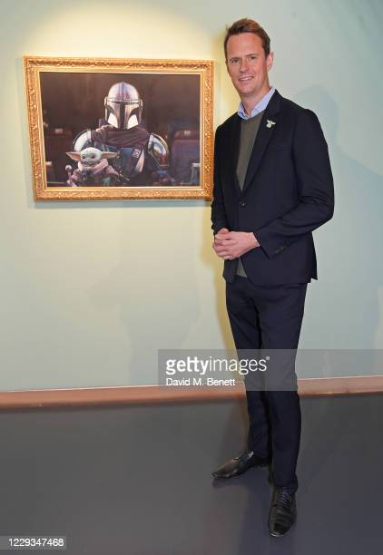 """Luke Bradley-Jones, SVP of Direct to Consumer and General Manager of Disney+ EMEA, attends a private view of """"The Mandalorian And The Child"""", a..."""