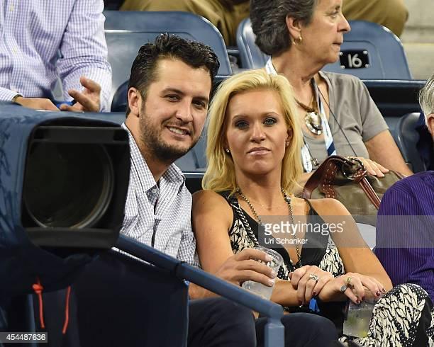 Luke Bryan and Caroline Boyer Bryan attend day 8 of the 2014 US Open at USTA Billie Jean King National Tennis Center on September 1 2014 in New York...