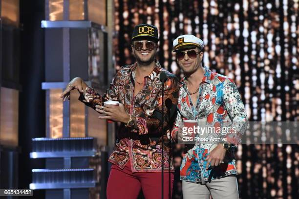 Luke Bryan and Dierks Bentley host THE 52ND ACADEMY OF COUNTRY MUSIC AWARDS scheduled to air LIVE from TMobile Arena in Las Vegas Sunday April 2 on...