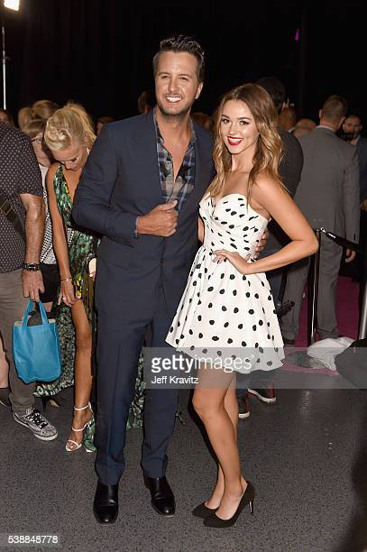 Luke Bryan and Sadie Robertson attend the 2016 CMT Music awards at the Bridgestone Arena on June 8 2016 in Nashville Tennessee