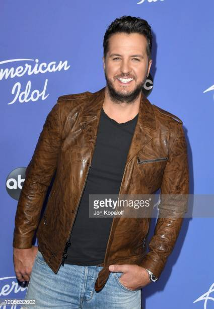 """Luke Bryan attends the premiere event for """"American Idol"""" hosted by ABC at Hollywood Roosevelt Hotel on February 12, 2020 in Hollywood, California."""
