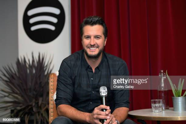 Luke Bryan celebrates his new album 'What Makes You Country' with his biggest Spotify Premium fans at Ace Hotel on December 11 2017 in Los Angeles...
