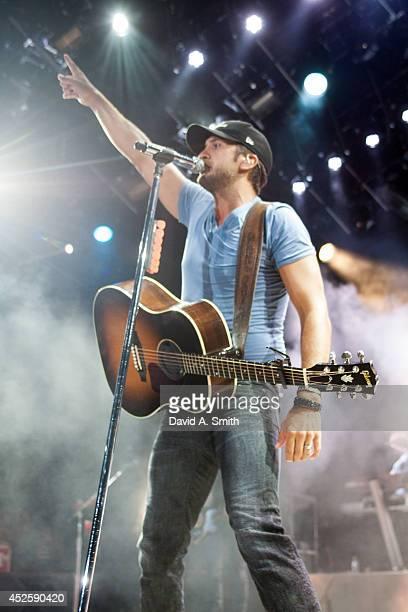 Luke Bryan performs at Oak Mountain Amphitheatre on July 23, 2014 in Pelham, Alabama.