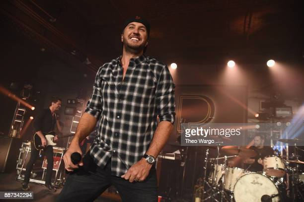 Luke Bryan performs at Pandora Up Close With Luke Bryan on December 6 2017 in New York City