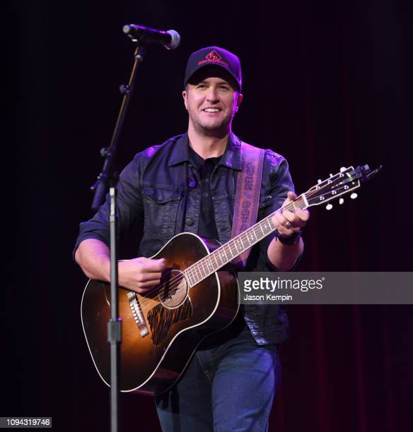 Luke Bryan performs at the Bobby Bones And The Raging Idiots 4th Annual Million Dollar Show at Ryman Auditorium on January 14 2019 in Nashville...