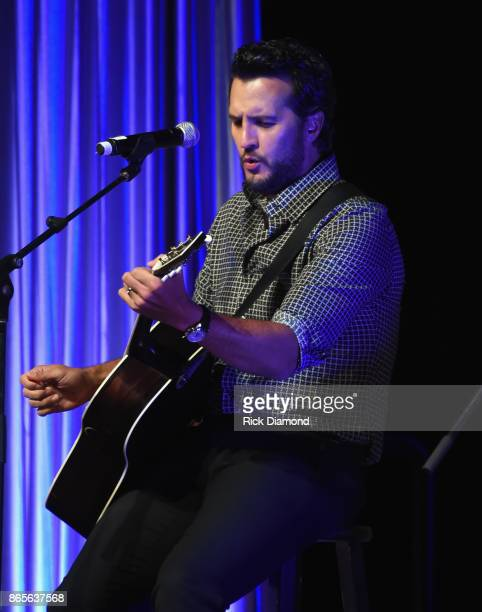 Luke Bryan performs during the 2017 Nashville Songwriters Hall Of Fame Awards at Music City Center on October 23 2017 in Nashville Tennessee