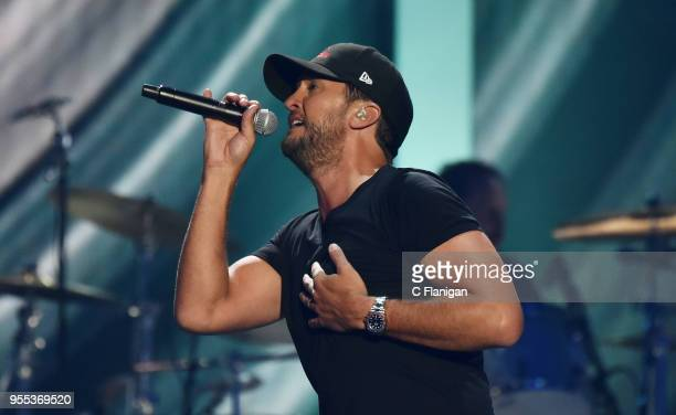 Luke Bryan performs during the 2018 iHeartCountry Festival by ATT at The Frank Erwin Center on May 5 2018 in Austin Texas