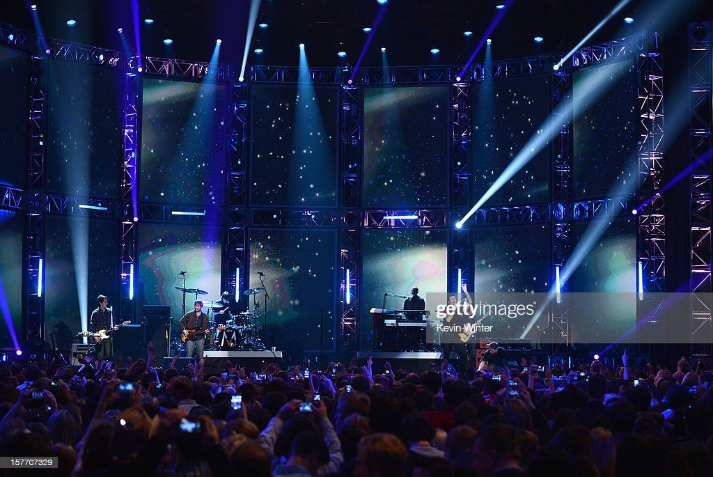 Luke Bryan performs onstage at The GRAMMY Nominations Concert Live!! held at Bridgestone Arena on December 5, 2012 in Nashville, Tennessee.