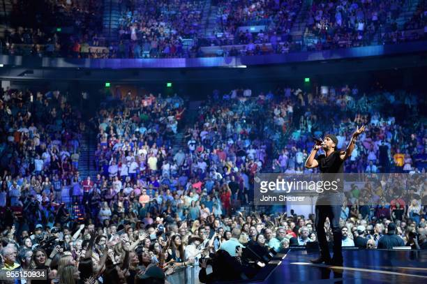 Luke Bryan performs onstage during the 2018 iHeartCountry Festival By ATT at The Frank Erwin Center on May 5 2018 in Austin Texas