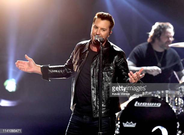 Luke Bryan performs onstage during the 54th Academy Of Country Music Awards at MGM Grand Garden Arena on April 07 2019 in Las Vegas Nevada