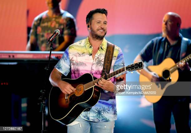 Luke Bryan performs onstage during the 55th Academy of Country Music Awards at the Grand Ole Opry on September 14, 2020 in Nashville, Tennessee. The...
