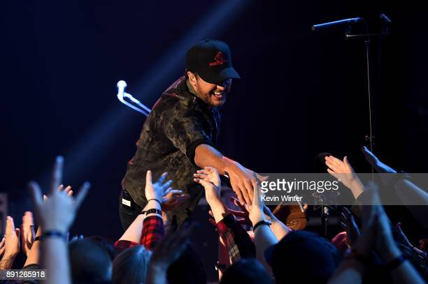 Luke Bryan performs onstage during the iHeartCountry Album Release Party at iHeartRadio Theater on December 12 2017 in Burbank California