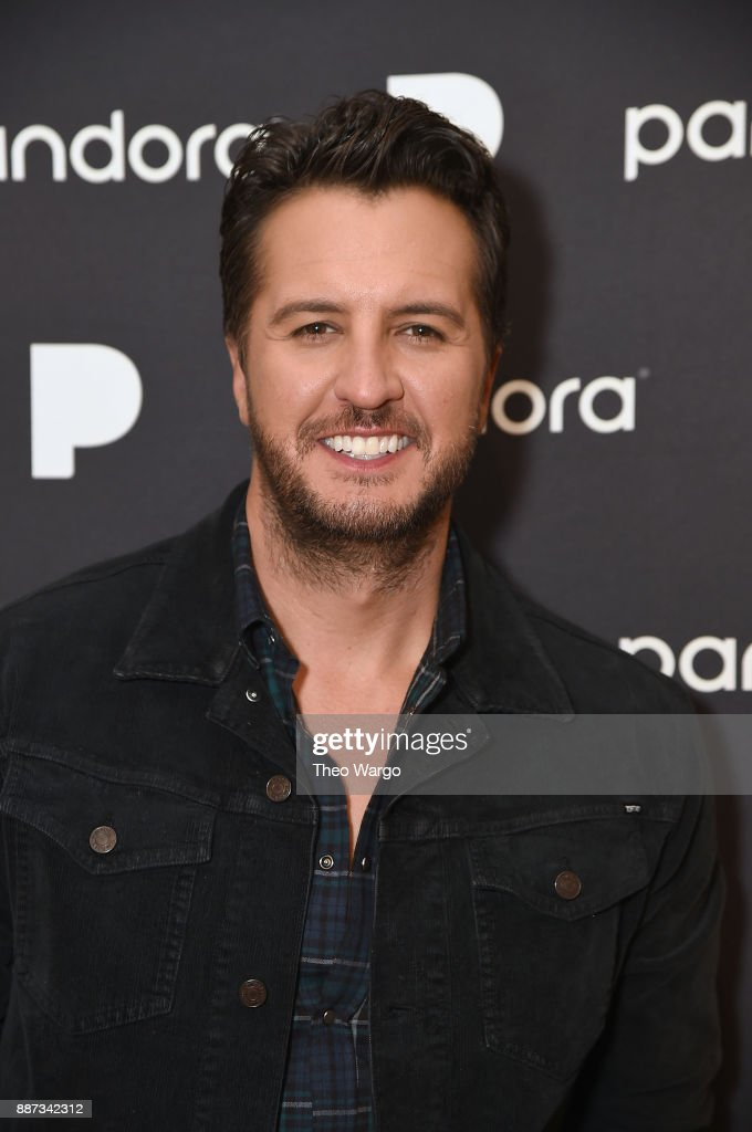 Luke Bryan poses backstage at Pandora Up Close With Luke Bryan on December 6, 2017 in New York City.