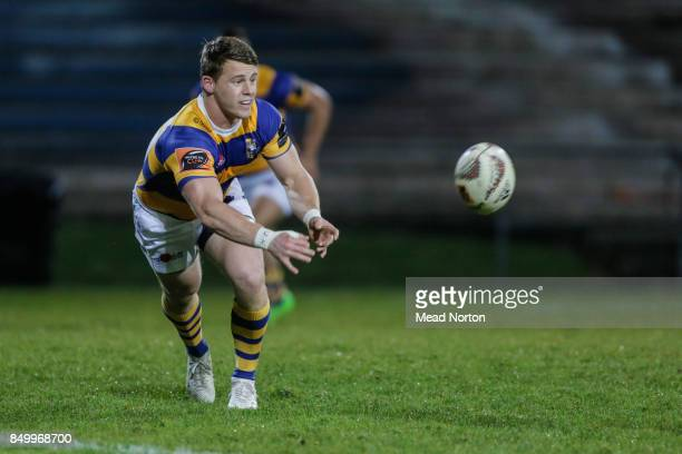 Luke Campbell passing the ball during the round six Mitre 10 Cup match between Bay of Plenty and Southland at Rotorua International Stadium on...