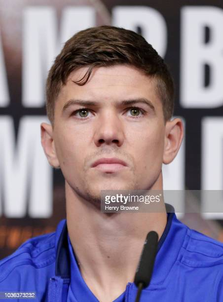 Luke Campbell speaks to the media during the Anthony Joshua And Alexander Povetkin Press Conference on September 20, 2018 in London, England.