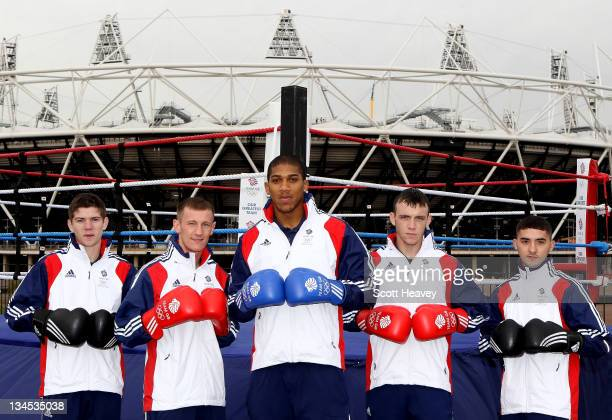 Luke Campbell Tom Stalker Anthony Joshua Fred Evans and Andrew Selby of Team GB during the Announcement of the first Boxers named for the London 2012...
