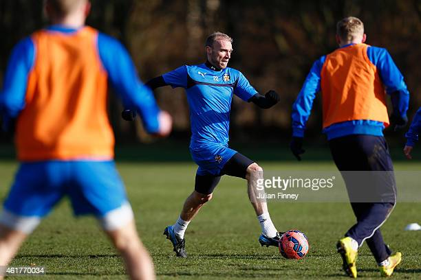 Luke Chadwick of Cambridge United in a practice session at their training ground on January 19 2015 in Cambridge Cambridgeshire