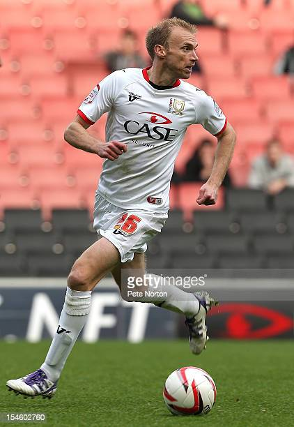Luke Chadwick of MK Dons in action during the npower League One match between MK Dons and Stevenage at stadiummk on October 20 2012 in Milton Keynes...
