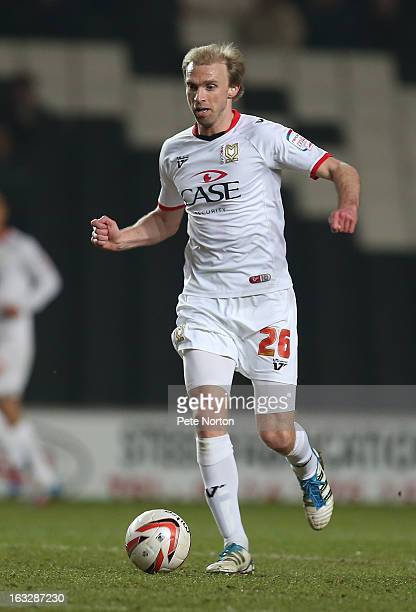 Luke Chadwick of MK Dons in action during the npower League One match between MK Dons and Doncaster Rovers at Stadium MK on March 5 2013 in Milton...