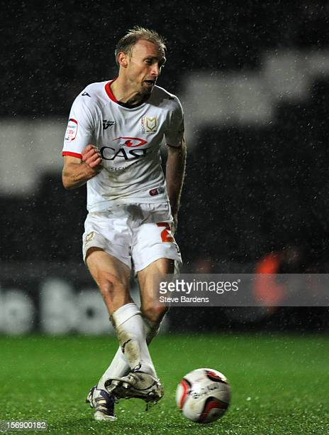 Luke Chadwick of MK Dons scores his second goal during the npower League One match between MK Dons and Colchester United at Stadium MK on November 24...