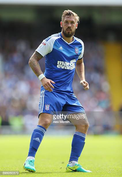 Luke Chambers of Ipswich during the Sky Bet Championship match between Ipswich Town and Norwich City at Portman Road on August 21 2016 in Ipswich...