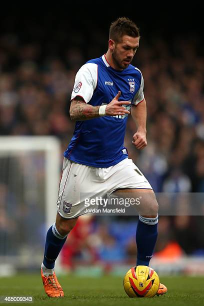 Luke Chambers of Ipswich Town in action during the Sky Bet Championship match between Ipswich Town and Reading at Portman Road on January 25 2014 in...