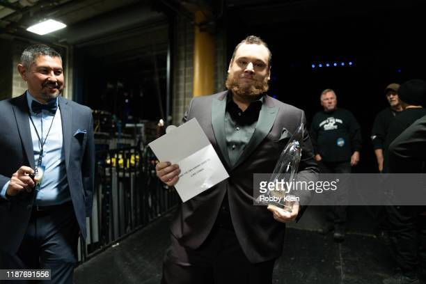 Luke Combs backstage at the 53rd annual CMA Awards at Bridgestone Arena on November 13 2019 in Nashville Tennessee