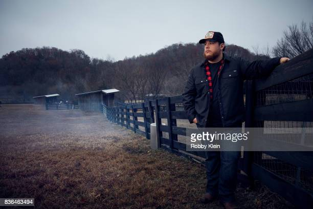 Luke Combs is photographed for Billboard Magazine on December 28 2016 in Nashville Tennessee
