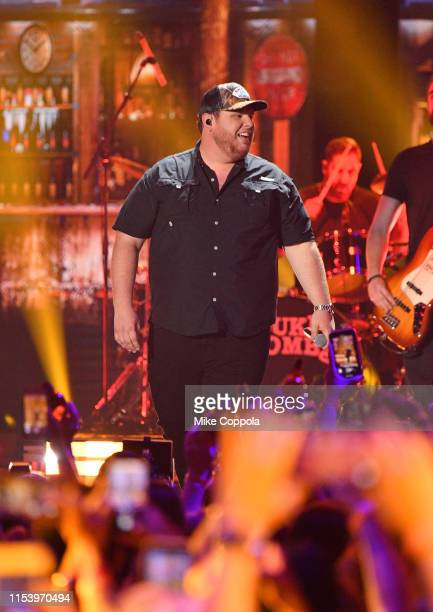 Luke Combs performs at the 2019 CMT Music Awards at Bridgestone Arena on June 05 2019 in Nashville Tennessee