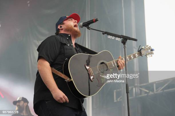 Luke Combs performs during the 1st annual Innings Festival at Tempe Beach Park on March 25 2018 in Tempe Arizona