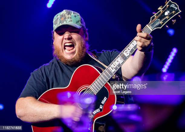 Luke Combs performs in support of his Beer Never Broke My Heart Tour at DTE Energy Music Theater on May 30 2019 in Clarkston Michigan
